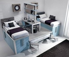 Small Teen Berdoom With Loft Decorating Ideas