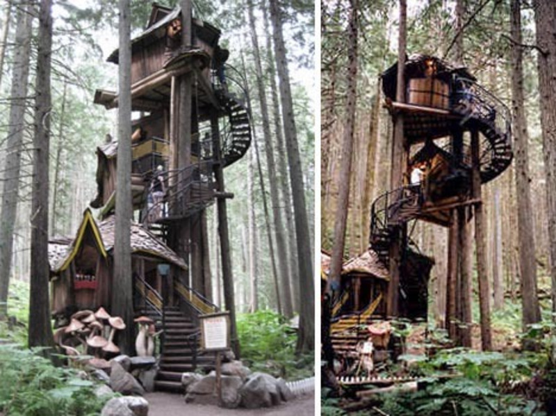 Kids Tree House Designs, Fantasy Forest Tree House Straight Out Of A Kids Story Book