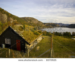 Small Wooden House In The Mountains Stock Photo 8370925 : Shutterstock