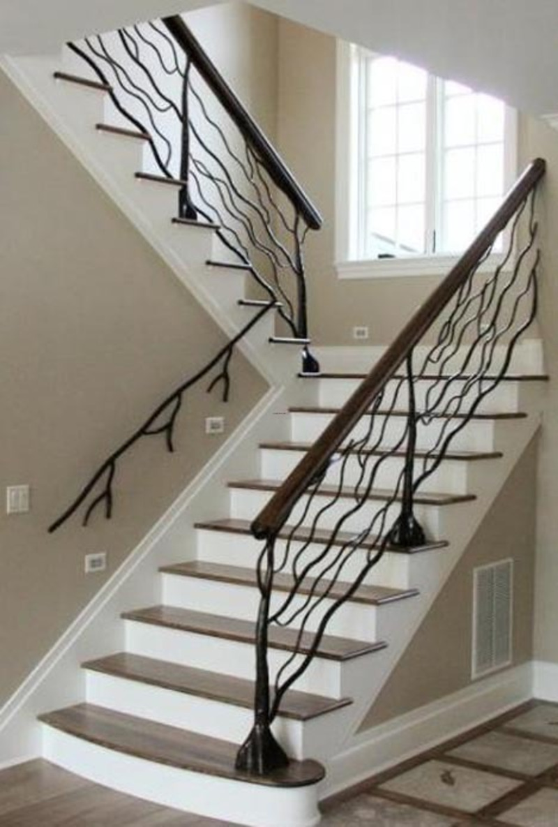 Custom Metal Handrail Designs For Staircases Design