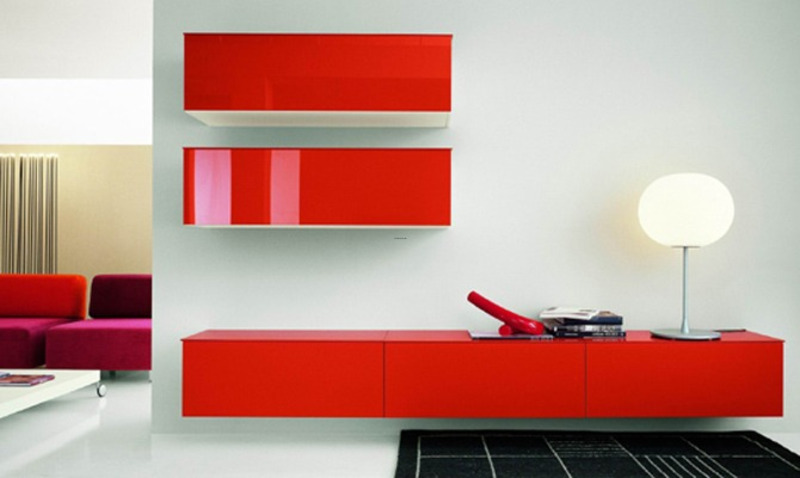Lime green furniture and red furniture design bookmark - Red and green interior design ...