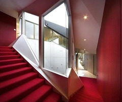 Red Interior Design Klein Bottle House « Flooring « Room Images, Photos And Pictures Gallery « Design Wagen