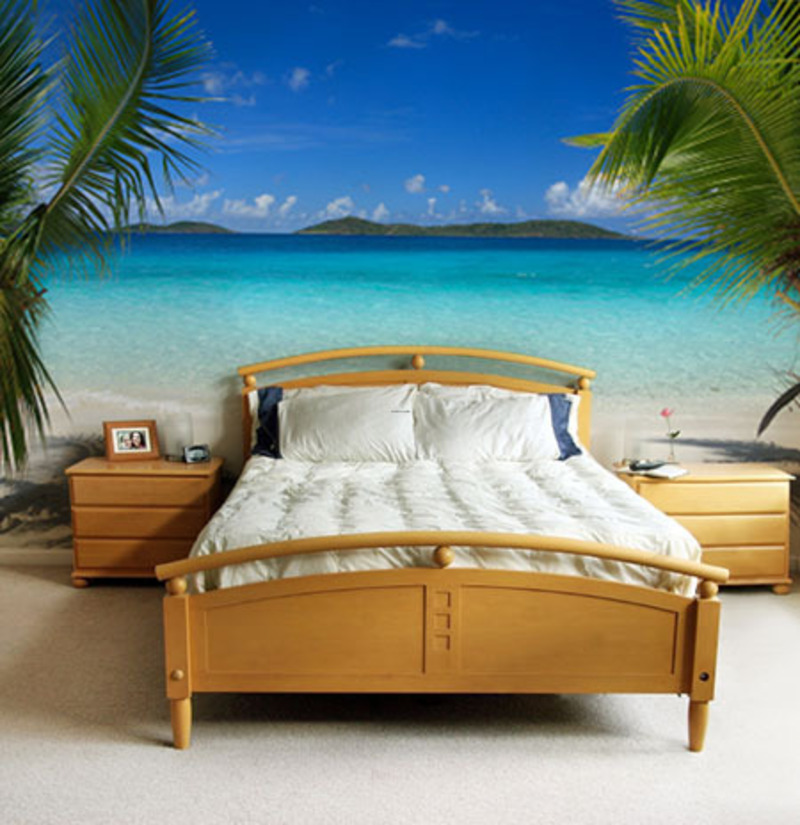 Custom wall murals design ideas design bookmark 12219 for Beach themed mural