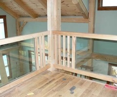 Glass Rails In A Timber Frame Loft