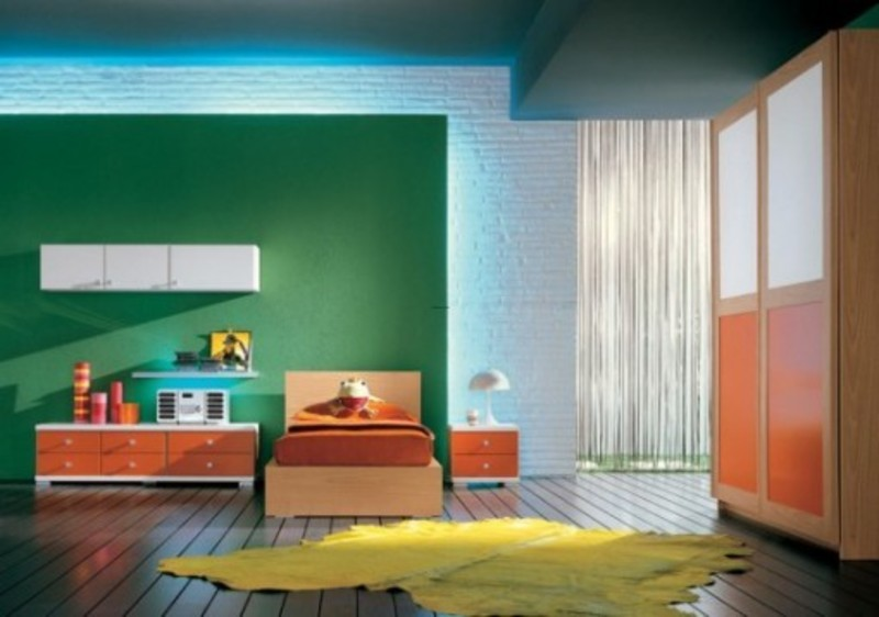 beautiful color combination for teen bedroom decorating