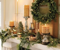 Christmas Day Decoration Ideas 2010 By Pottery Barn