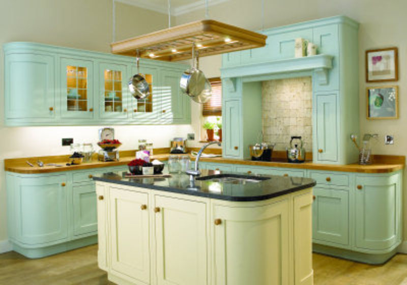 Painted kitchen cabinets images design bookmark 12233 for Country kitchen paint ideas
