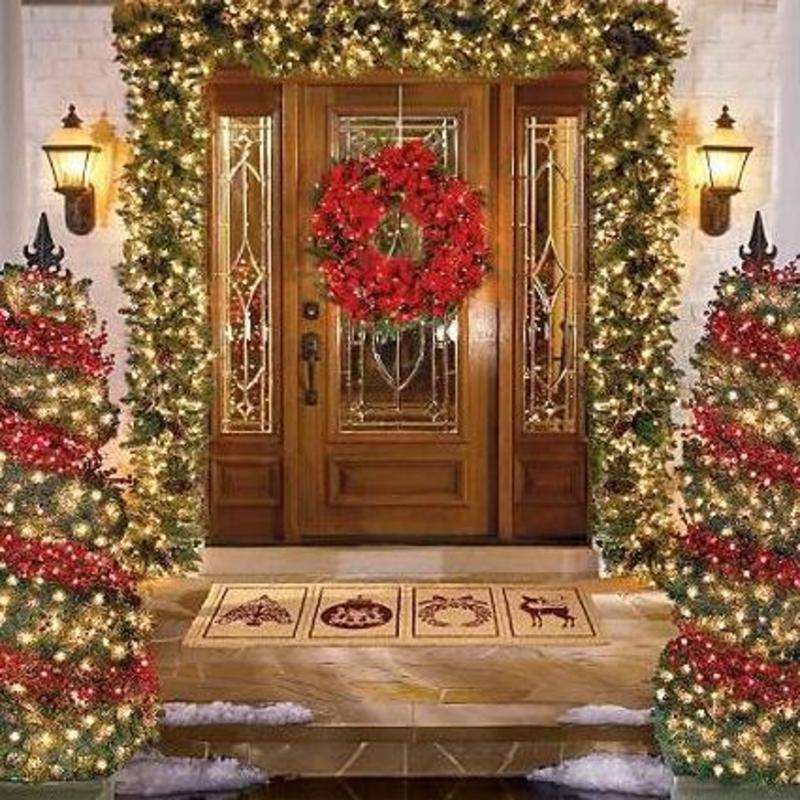 Brilliant ideas of outdoor christmas decorating design for Outdoor christmas decoration ideas