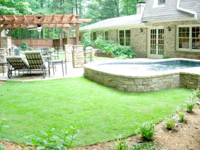 Backyard landscape design ideas design bookmark 12250 for Patio landscaping ideas