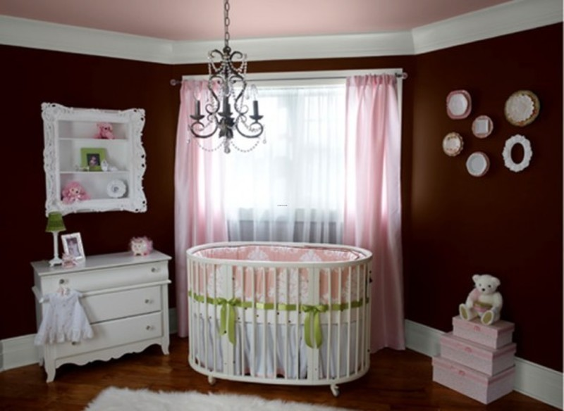 baby girls nursery room interior design and decorating