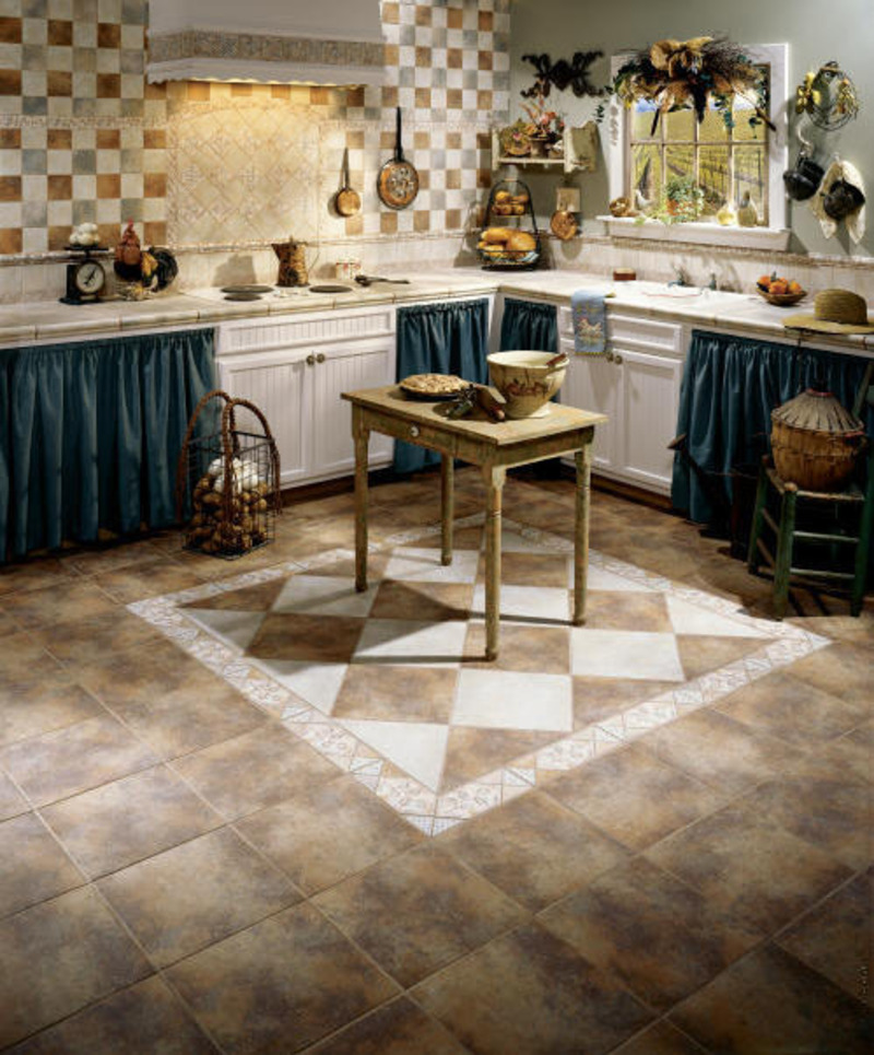 Art In Flooring French Country Style Kitchen Decorating