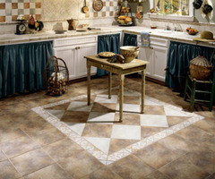 Art In Flooring French Country Style Kitchen Decorating Idea