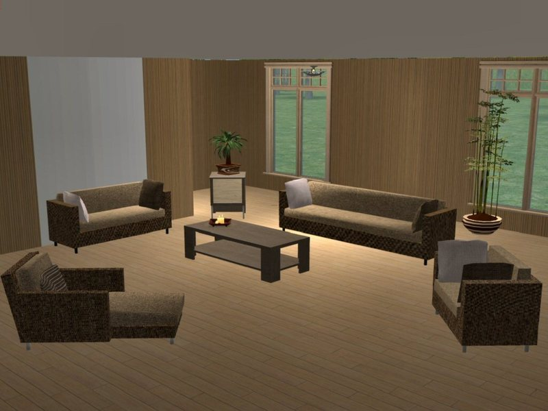 Black brown white living room projector screen interior for Cream and brown living room designs