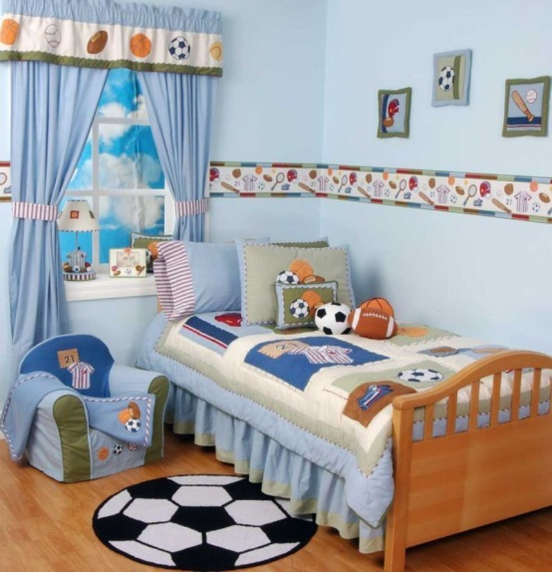 Kids Bedroom Ideas With Sports World Theme Design