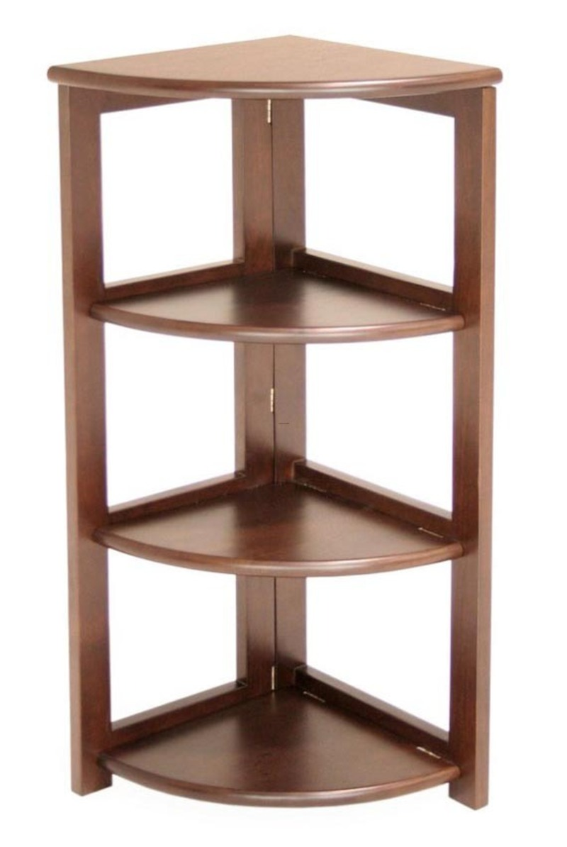 Cool Corner Bookcase Design Solid Hardwood Furniture With Folding Shelf Bookmark 12363