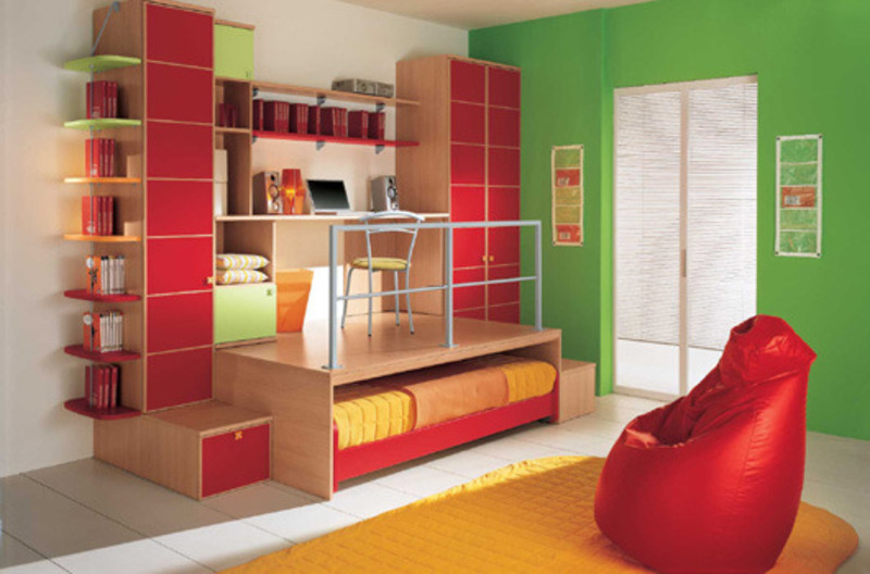 Color combination of modern kids bedroom interior design - Kids room color combination ...