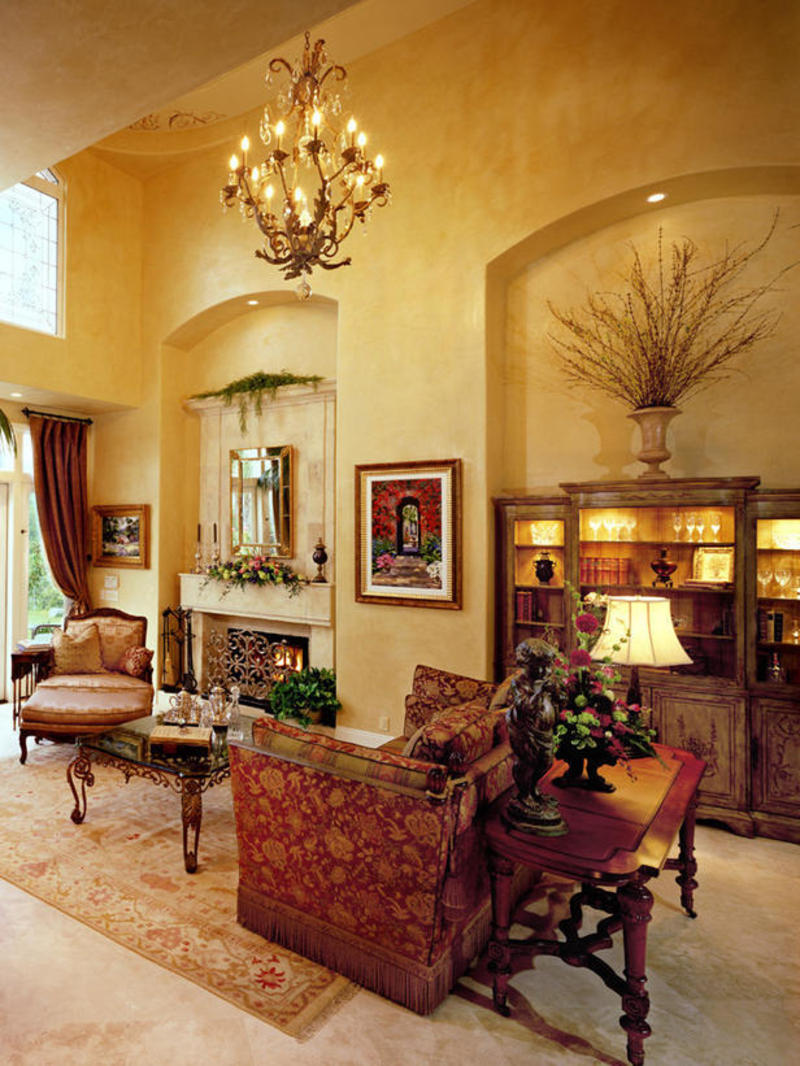Tuscan Living Room Design Design Bookmark 12456