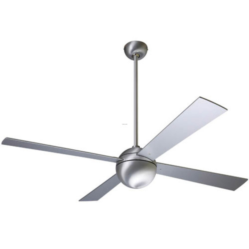 Modern Fan Ball Brushed Aluminum 42 Inch Ceiling Fans