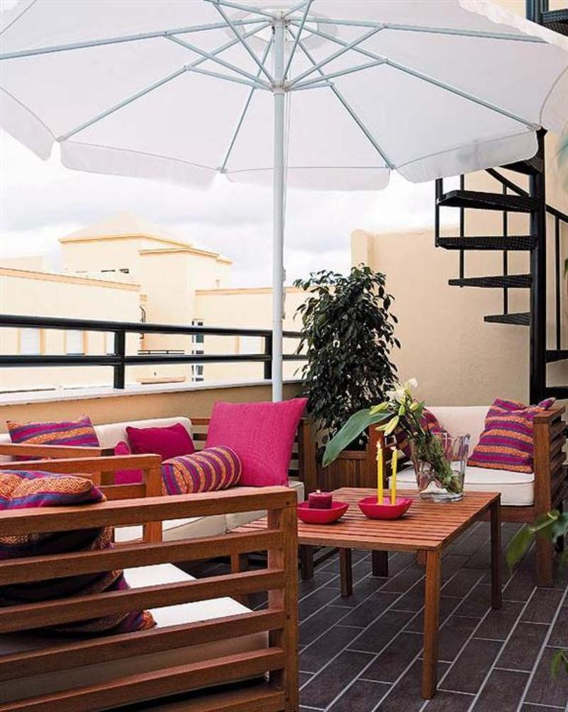 Colorful Cozy Roof Terrace Decoration Ideas Design