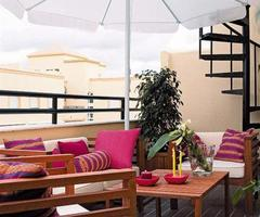 Colorful Cozy Roof Terrace Decoration Ideas