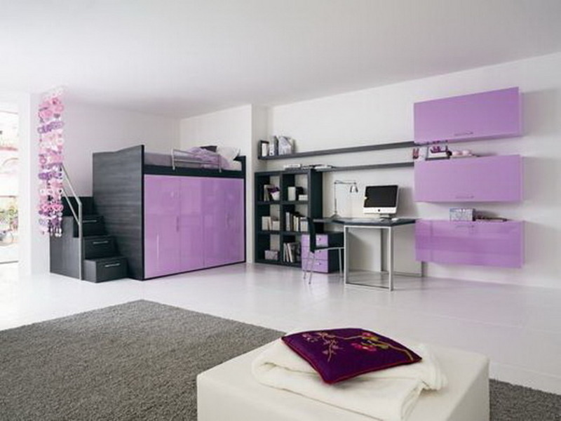 Loft Bed with Teen Girl Bedroom Ideas