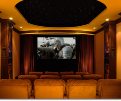 Beverly Hills Home Theater System Featuring Runco Projection
