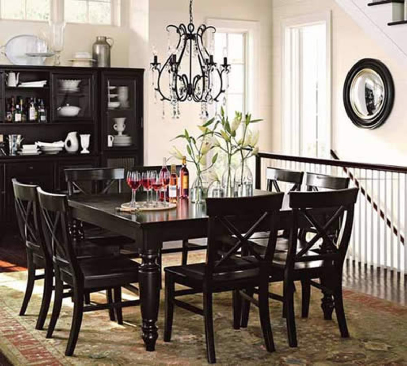 a black chandelier dining room design concerns design