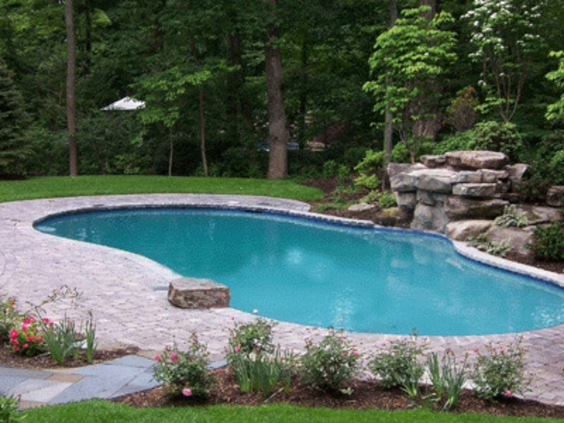 Landscape designs for pools design bookmark 12578 for Pool landscaping ideas