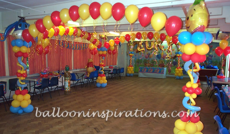 Birthday party decorations design bookmark 12616 for Balloon decoration for kids birthday party