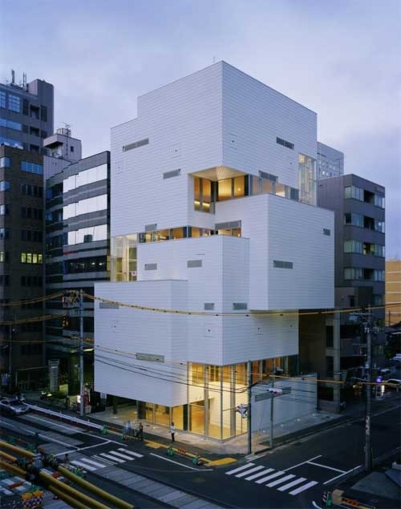 Atelier hitoshi multilevel building concept with modern for Concept building