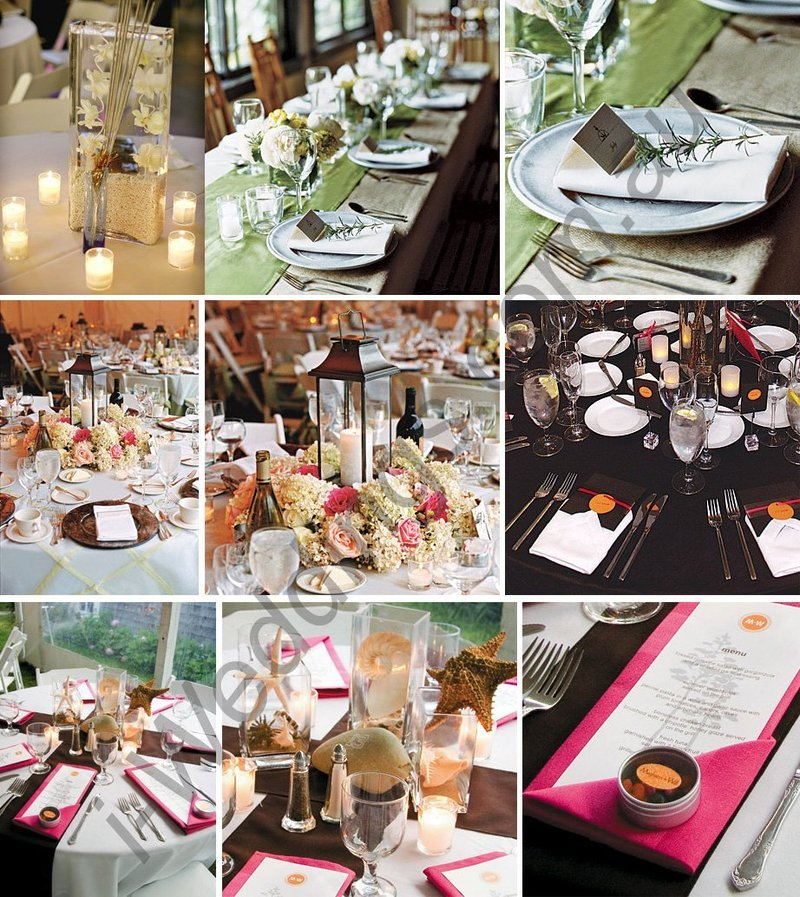 Table Setting For Wedding Reception Pictures: Table Decoration Ideas For A Wedding / Design Bookmark #12631