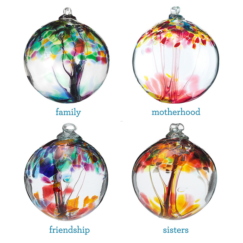 Unique Gifts For Christmas 2011, Recycled Glass Tree Globes   Relationships