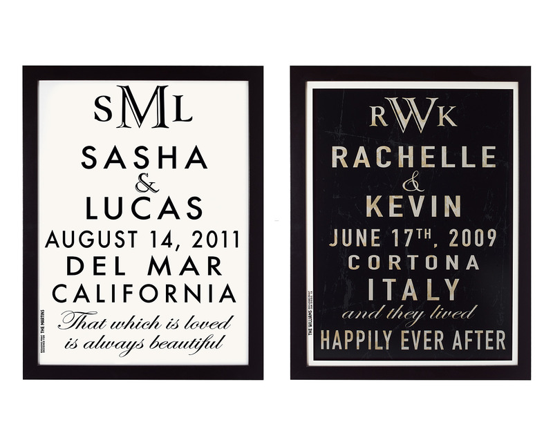 Unique Gifts For Christmas 2011, Customizable Wedding Announcement Art