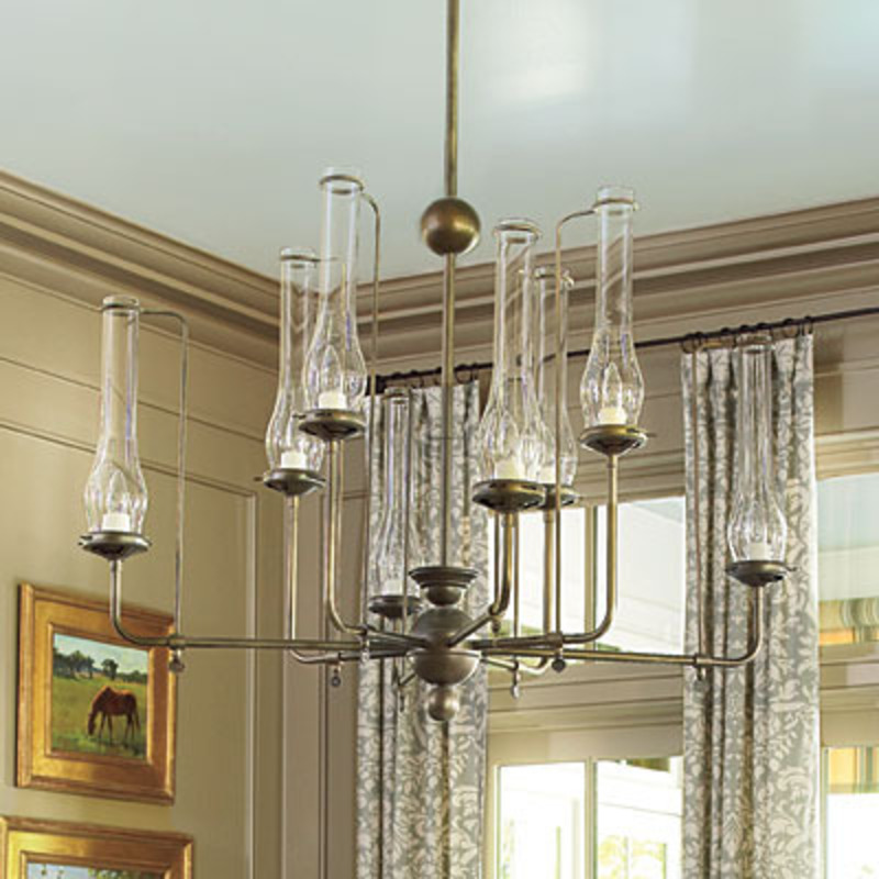 Dining room chandeliers casual cottage for Living room chandelier