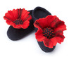 Wool Felted Poppy Slippers
