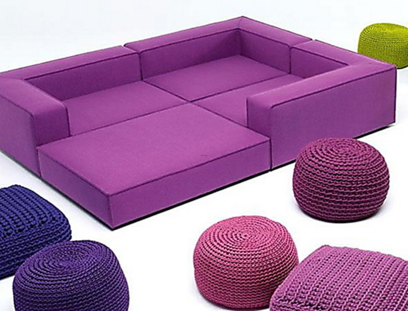exciting colorful modern furniture | Bright Colorful Modern Furniture Ideas By Paola Lenti ...