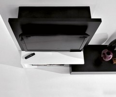 Modern Wall Mounted Tv Unit With Cabinet Design, Creative Side System By Fimar