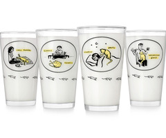 Inconvenient Kitty Tumblers  Set Of 4