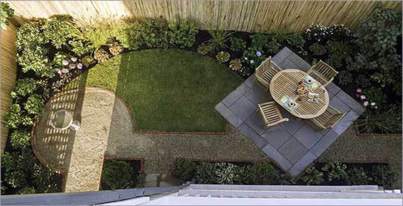 Minimalist garden from small yard ideas small design for Small yard landscaping designs
