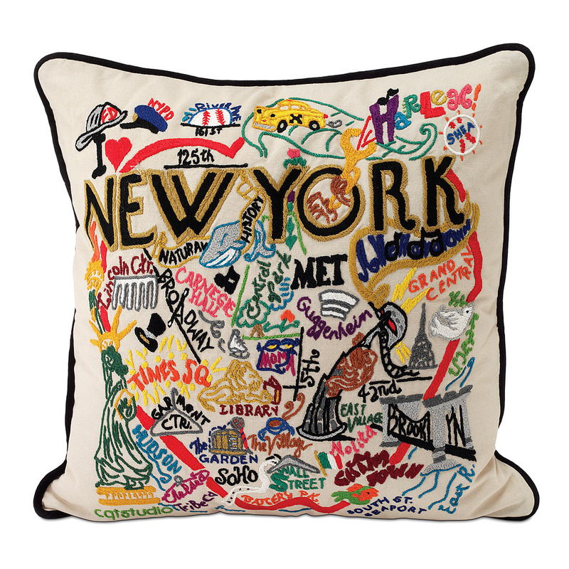 Unique Gifts For Christmas 2011, Hand Embroidered City Pillows