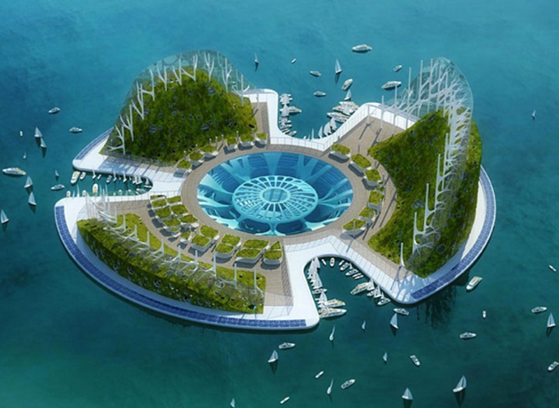 Float ecopolis lilypad designs modern architecture for Architecture futuriste ecologique