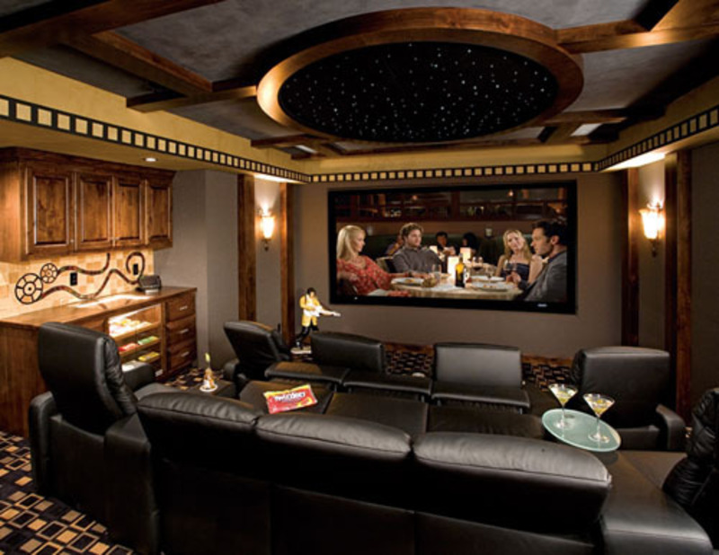 Photos of contemporary and luxury home theater interior for Interior design ideas home theater