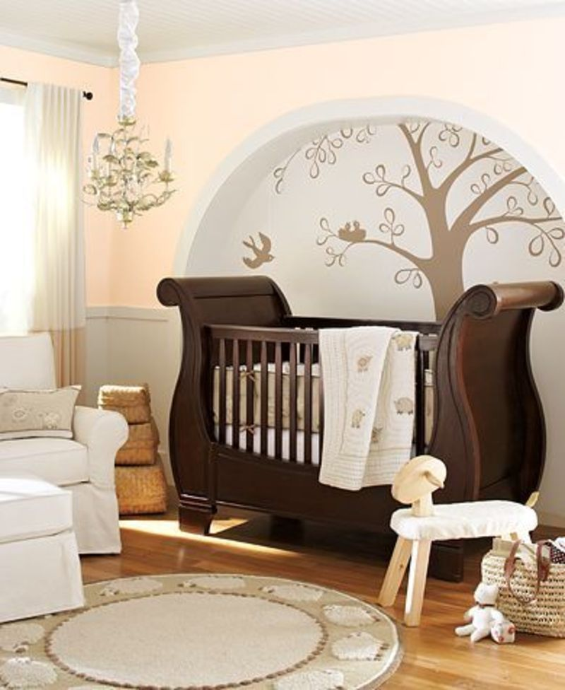 Home furniture decoration baby room contemporary baby for Baby room mural ideas