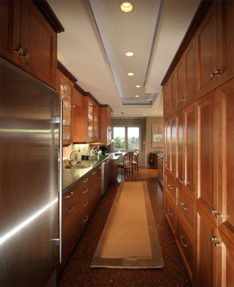 How galley kitchen design lets you save space design for Galley kitchen designs
