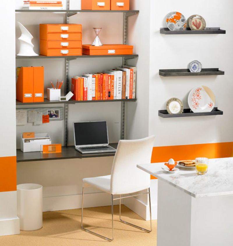 Home Interior Design Ideas For Small Spaces Modern: Modern Small Office Space With Furniture Sets / Design