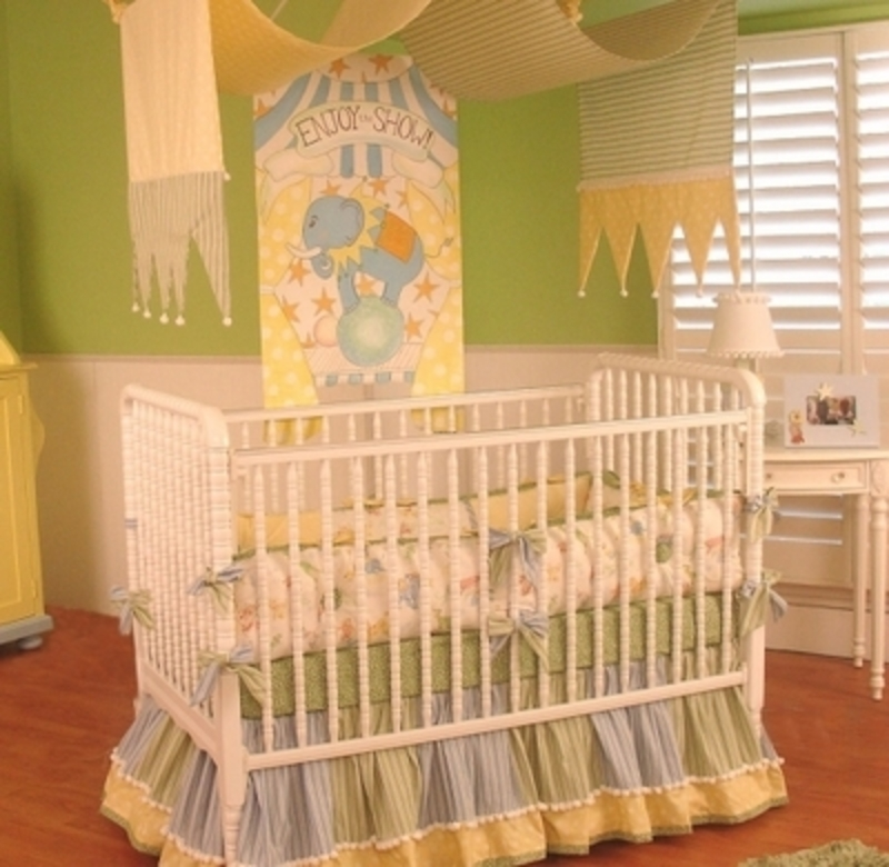 Baby Nursery Themes Unisex, Beautiful Unisex Baby Crib Bedding For A Circus Nursery