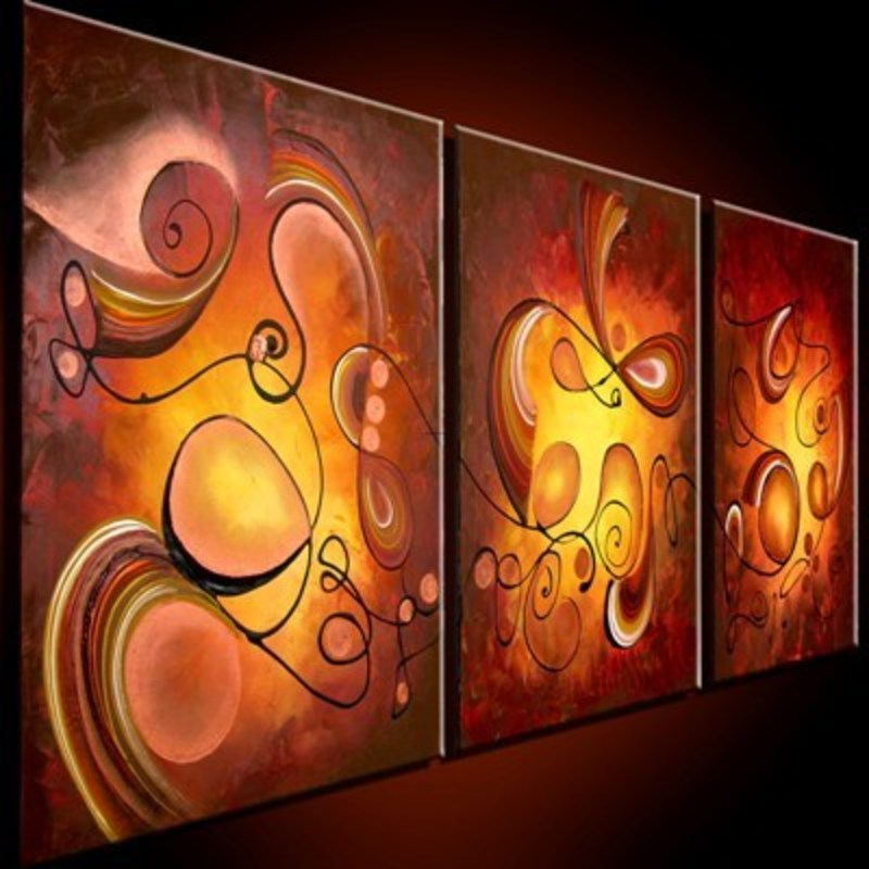 Decorative paintings for living room living room for Modern art paintings for living room