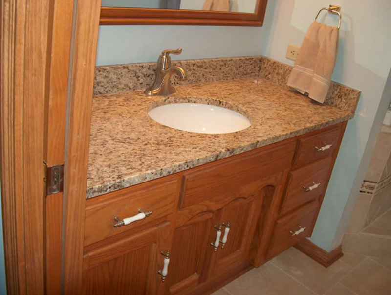 Granite countertops bathroom design bookmark 12865 for Bathroom countertops