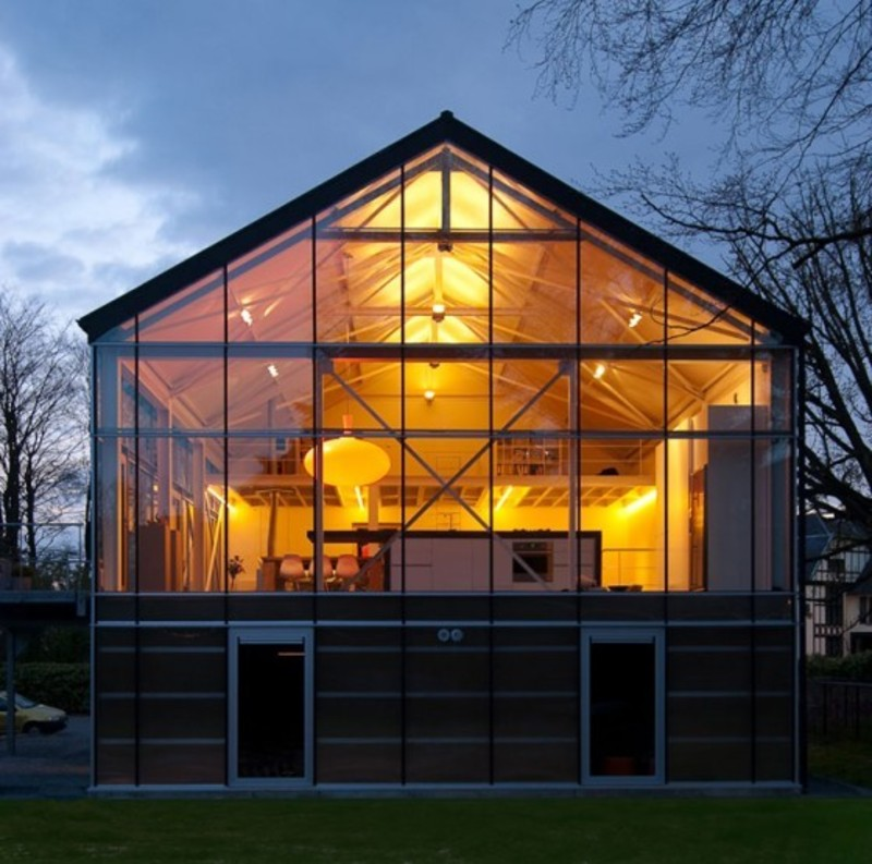 Greenhouse modern eco home design by carl verdickt for Eco house design