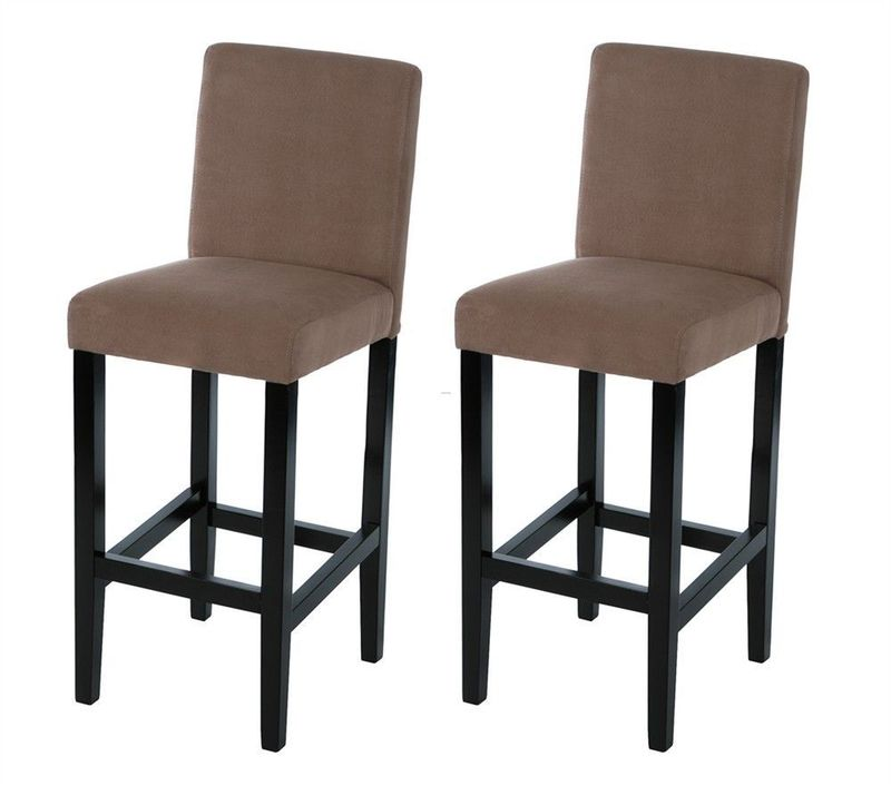 Lot de 2 chaises de bar design bookmark 12869 - Chaise de bar grise ...